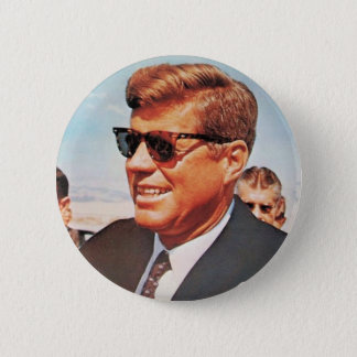 JFK in Living Color Pinback Button