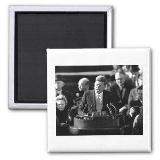 JFK Inauguaration 2 Inch Square Magnet