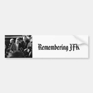 JFK Inauguaration Pegatina De Parachoque