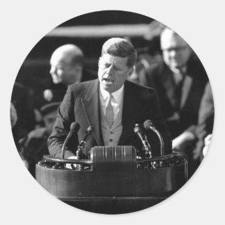 JFK Inauguaration Pegatinas Redondas