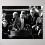 JFK Inauguaration Póster