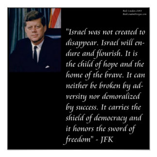 JFK & Israel Quote Poster Posters