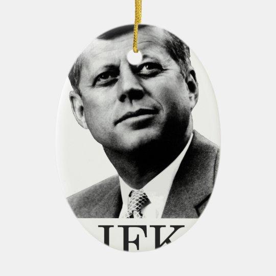JFK - John F. Kennedy Ceramic Ornament