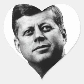 JFK - John F. Kennedy Pegatina En Forma De Corazón