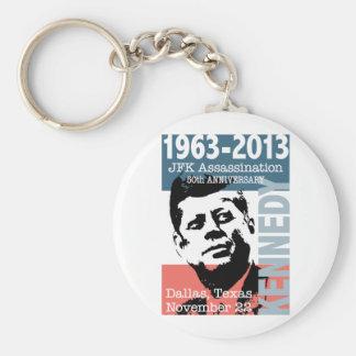 JFK Kennedy Assassination Anniversary 1963 - 2013 Basic Round Button Keychain