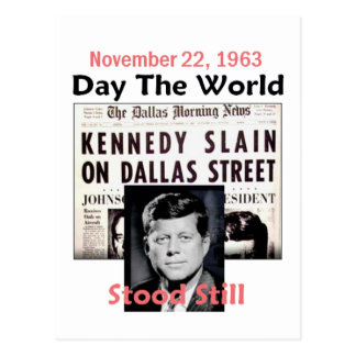 JFK KILLED Postcard
