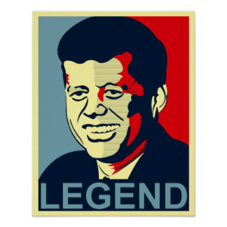 jfk legend poster