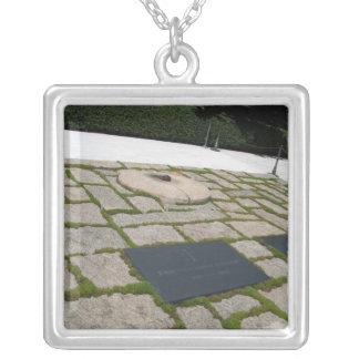JFK Memorial Square Pendant Necklace