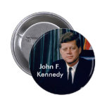 JFK official portrait from public domain 2 Inch Round Button
