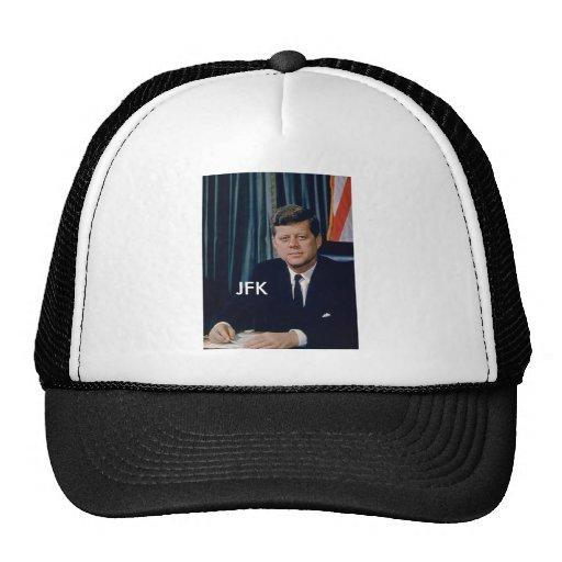 JFK official portrait from public domain Hats