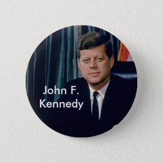 JFK official portrait from public domain Pinback Button