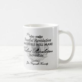 JFK on Peaceful or Violent Revolution Mug