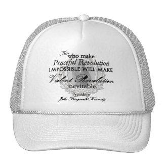 JFK on Peaceful or Violent Revolution Trucker Hat