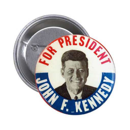 JFK para el presidente - botón Pins