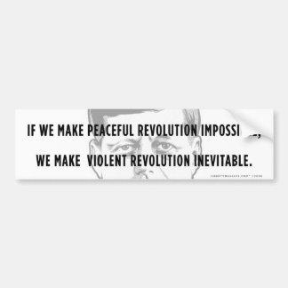 JFK Peaceful Revolution Quote Bumper Sticker Car Bumper Sticker