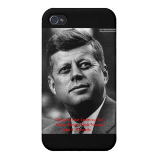 """JFK """"perdonan para no olvidar"""" los regalos y la ta iPhone 4 Fundas"""