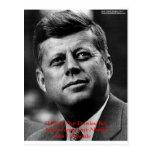 """JFK """"perdonan para no olvidar"""" los regalos y la ta Postal"""