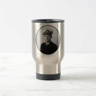 JFK que lleva su uniforme de la marina de guerra Taza De Café