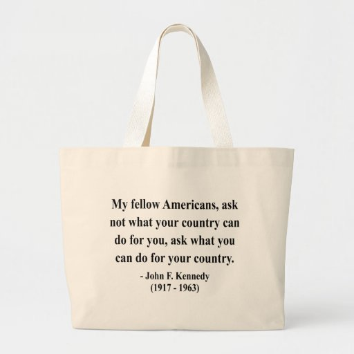 JFK Quote 3a Canvas Bags
