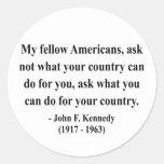 JFK Quote 3a Classic Round Sticker