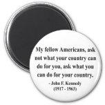 JFK Quote 3a Fridge Magnet