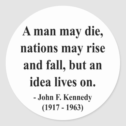 JFK Quote 4a Classic Round Sticker