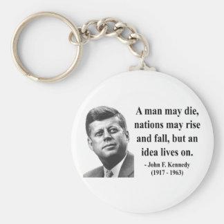 JFK Quote 4b Keychains