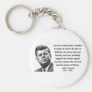 JFK Quote 5b Key Chain