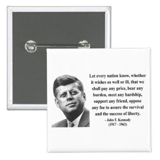 JFK Quote 5b Pinback Button
