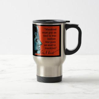 JFK Quote About War Travel Mug