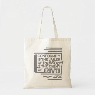 JFK quote bag - choose style & color