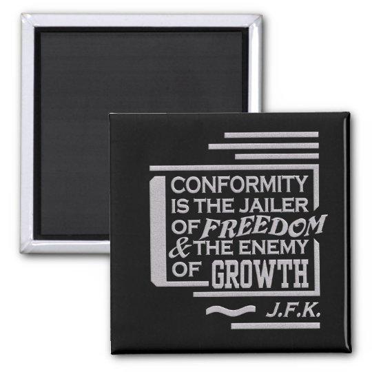 JFK quote magnet