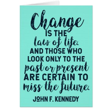 Lawyer Themed JFK Quote on Change Card