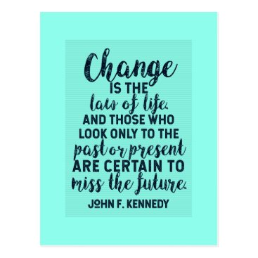 Lawyer Themed JFK Quote on Change Postcard