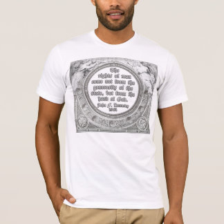 JFK Quote on Divine Source of our Rights T-Shirt