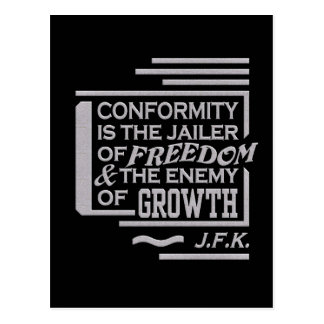 JFK quote postcard