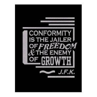JFK quote postcard