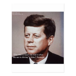 JFK Repair The Roof Famous Quote Postcard
