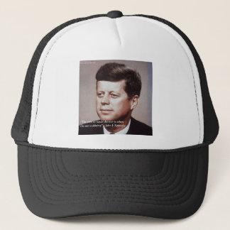 JFK Repair The Roof Famous Quote Trucker Hat
