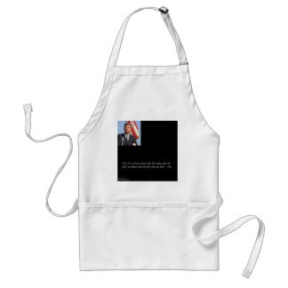 JFK Saving The Rich & Poor Quote Adult Apron