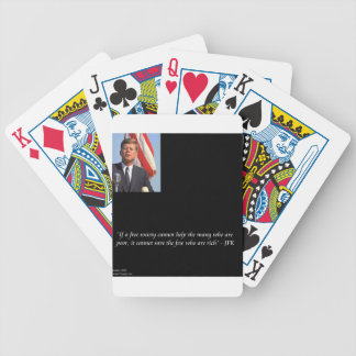 JFK Saving The Rich & Poor Quote Bicycle Poker Deck