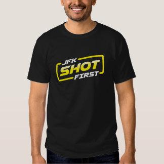 JFK Shot First Shirts