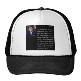 JFK y cita famosa con referencia a Israel Gorro De Camionero