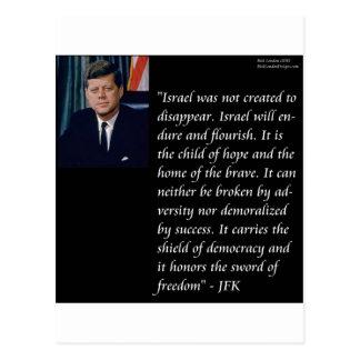 JFK y cita famosa con referencia a Israel Postales