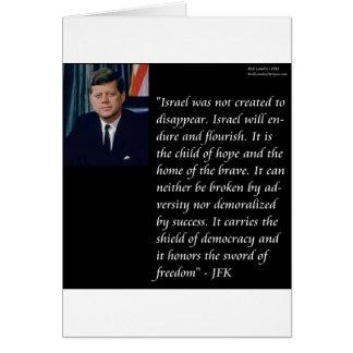 JFK y cita famosa con referencia a Israel Tarjeta De Felicitación