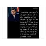 JFK y cita famosa con referencia a Israel Tarjeta Postal