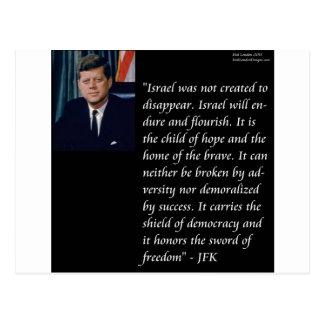 JFK y cita famosa con referencia a Israel Postal