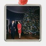 JFK y ornamento del navidad de Jacoba Kennedy Ornaments Para Arbol De Navidad