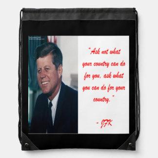 JFK y piden no la mochila del lazo de la cita