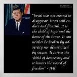 JFK y poster de la cita de Israel